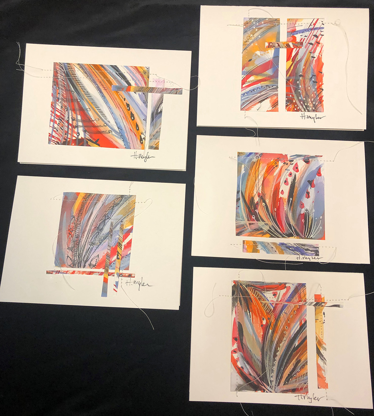 hand-made watercolor cards suitable for framing